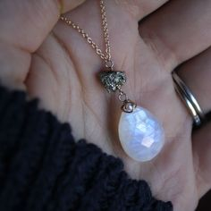 Moonstone & Pyrite Necklace by ATELIER Gaby Marcos
