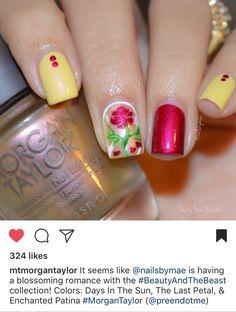 Morgan Taylor, Beauty And The Beast, Nail Designs, Nail Art, Nails, Disney, Color, Finger Nails, Ongles