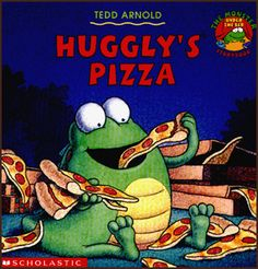 "Read: Huggly's Pizza by Tedd Arnold http://www.teddarnoldbooks.com/pizza.html  Talk: About how to make a pizza.  Sing: Using the tune of the song Bingo, make up a silly song about pizza. ""There is a meal I dearly love and Pizza is its name-o, P-I-Z-Z-A, P-I-Z-Z-A, P-I-Z-Z-A,  and Pizza is its name-o""  Play: Make a felt board pizza (idea from http://pinterest.com/pin/144748575494624032/)  Write: Draw a pizza or write a recipe for a special pizza that is named for you."