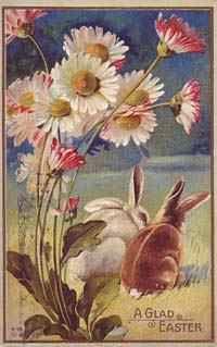 Vintage Easter Postcard ~ bunnies