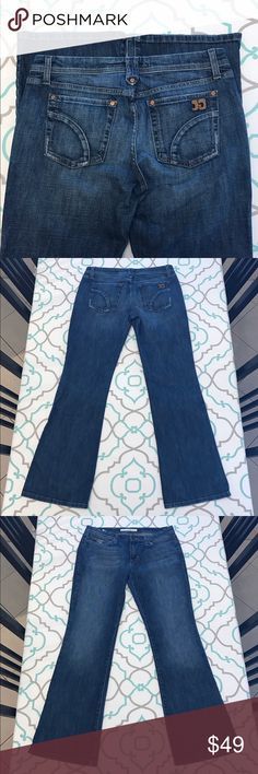 """💙👖Awesome Joe's Jeans👖💙29 7/8 31"""" Distressed!! 💙👖Awesome Joe's Jeans👖💙 Size 29 (7/8). 30.75"""" Inseam. 8.5"""" Rise. 15.75"""" Across Back. Awesome Stretch. Medium Dark Blue Wash. Light Distressing. Lightly Distressed Pockets Hems & Coin Pocket. Light Fading. Boot Cut. Good Used Condition! Love these! Joe's! Anthropologie! Ask me any questions! : ) Joe's Jeans Jeans Boot Cut"""