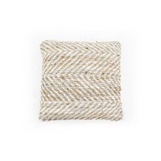 Pillow Sisal leather 50x50 cm - white (7037) #Pakhuis3 #Kussen