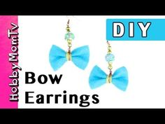 DIY How to Make Bow Earrings   Jewelry Tutorial by HobbyMomTV
