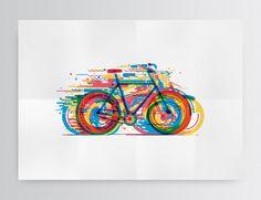 Bicicletas by Daniel González, via Behance