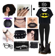 """""""Contest Entry"""" by jaguarwood ❤ liked on Polyvore featuring Polo Ralph Lauren, Dr. Martens, MAC Cosmetics, Valentino, WithChic, Arbonne, Ferrari, Casetify, BeYou and anascreations"""