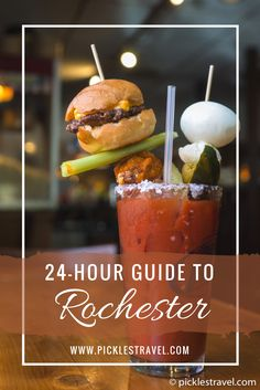 24 hour travel guide to Rochester MN whether on a day trip or road trip across the midwest this guide shows you the things to do like where you can see famous artworks like Chihuly. Or where to hike to overlook the city and drink the best bloody mary you'll ever have. Lots of great activities the whole family can enjoy- including rooftop swimming pools.