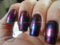 Oil slick nails