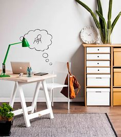 Real Living July 2012: Home Office Ideas - Whiteboard wall. (photography: maree homer, styling: erin michael)