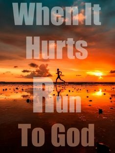 When it hurts run to God. Check out Even When It Hurts: Trusting God Through Hard Times Prayer Quotes, Faith Quotes, Godly Quotes, Bible Quotes, Christian Devotions, Christian Faith, Christian Quotes, Worship Jesus, Praise And Worship