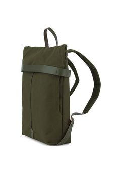 Travel Backpack | waterproof | leather | waxed cotton | army green | Handmade in Warsaw | sustainable | durable | bag | laptop