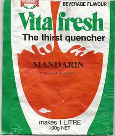 Late Hansells Vita Fresh Cordial Packet - New Zealand Cordial, 1980s, New Zealand, Beverages, Fresh, Tableware, How To Make, Packaging, Food