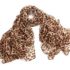 Chicastic Leopard Animal Print Chiffon Scarf Wrap Stole Shawl: This is a stylish all season chiffon scarf. Leopard Print Outfits, Leopard Print Shoes, Animal Print Outfits, Animal Print Scarf, Leopard Scarf, Leopard Animal, Brown Leopard, Animal Prints, Leopard Print Wedding