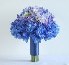40 best purple and blue wedding ideas images on pinterest wedding beautiful purple and blue silk flower bouquet makes a pretty wedding memento and silk flowers are mightylinksfo