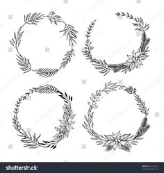 Image Result For Wreath With Pine Cone Sketch