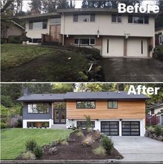 Home Renovation Ranch Exterior Home Renovations: Elevating an old house with new facade Home Exterior Makeover, Exterior Remodel, Exterior Home Renovations, Kitchen Renovations, Kitchen Makeovers, Custom Home Builders, Custom Homes, Reforma Exterior, Split Level Exterior