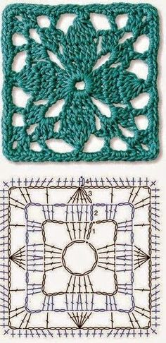 Transcendent Crochet a Solid Granny Square Ideas. Inconceivable Crochet a Solid Granny Square Ideas. Motifs Granny Square, Crochet Motifs, Crochet Blocks, Granny Square Crochet Pattern, Crochet Diagram, Crochet Stitches Patterns, Crochet Chart, Crochet Squares, Love Crochet