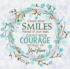 Ovarian Cancer Awareness ~ Count your SMILES instead of your tears . COUNT YOUR…