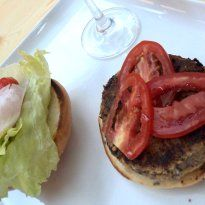 Vegetable Burger: Hot, crisp and full of flavour! A downright delicious #burger with veggie power, fried crisp.