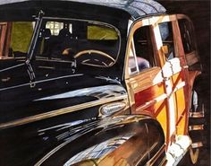 """""""Cars I'll Never Own, #10""""     National Watercolor Society's 2011 annual exhibition,  winner of the Roger Armstrong Memorial-  Artist-Kris Preslan"""