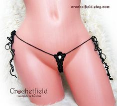 Mini micro open thong crystal embroidery lace ouvert