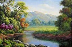 Resultado de imagem para paisagens para pintura em telas