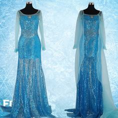 Free Shipping Custom made Movie Cosplay Costume Princess Elsa Dress from Frozen for Girls Children-inCostumes & Accessories from Apparel & A...