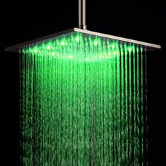Symbol Of The Brand Rain Square Shower Head Led Color Changing Shower Head Bathtub Shower Head Bathroom Three-color Washing Nozzle 8 Inches To Enjoy High Reputation At Home And Abroad Shower Equipment Home Improvement