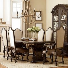 Castella Valencia Dining Room Set w/ Upholstered Chairs
