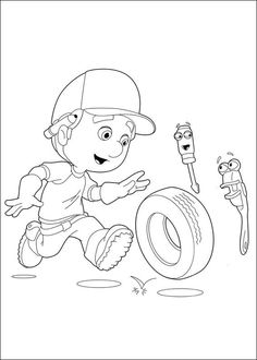 9 Best Handy Manny Images Coloring Pages For Kids Coloring Books