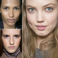 Fall 2013: Minimalist Makeup: One trend in makeup that will never go out of style: less is more. Backstage the artists took the no-makeup makeup approach for many shows. Lipstick and mascara were scarce in order to accommodate each model's natural beauty.