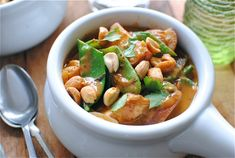 Chicken Massaman Curry...I fell in love with this stuff in a little restaurant in Wilmington, NC.  I'm so happy to have found a recipe to make it for myself...except with cashews.