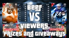 """Madden 16 Ultimate Team """"Beef Vs Viewers"""" Coin Games, Prizes and Giveaways Madden 16 Gameplay  http://onlinetoughguys.com/madden-16-ultimate-team-beef-vs-viewers/"""