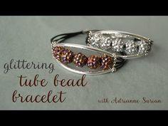 10-Minute Glittering Tube Bead Bracelet   Video Tutorial
