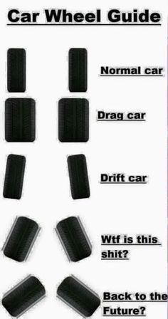 Car wheel guide - gearhead meme