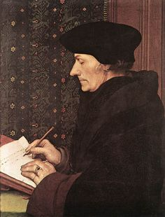 Desiderius Erasmus , 1523 by Hans Holbein the Younger