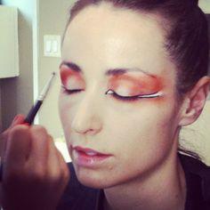 Advance Makeup Student working on their VMMA makeup model in class  #makeupschool #makeup #makeupartist #mua #makeuplessons #runway #fashion #beauty #avantgarde #makeupcourses #beautyschool #cosmetics #makeupforever #vancouverbc #westvancouver #vancouver #northvancouver #howto #education