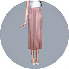 Accordion Long Skirt at Marigold via Sims 4 Updates