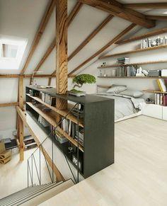 Beautiful Attic Design Ideas | Pinterest | Attic design, Storage ...