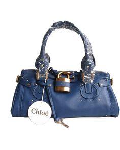 Chloe Paddington Satchel Dark Blue