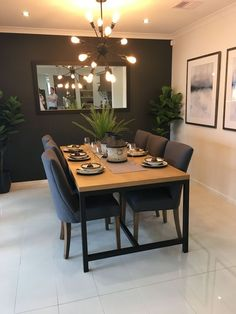 Dining Room Inspiration, Home Decor Inspiration, Decor Ideas, Dining Room Design, Dining Room Table, Dining Decor, Dining Rooms, Room Interior, Interior Design Living Room