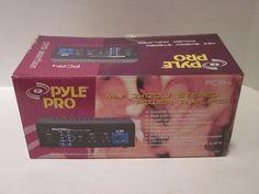Pyle Pro PCA4 Mini 2x120 Watt Stereo Power Amplifier w/ Aux CD/MP3 Input Amp New #Pyle