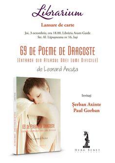 """Lansare de carte: """"69 de poeme de dragoste"""" de Leonard Ancuta"""