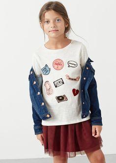 Decorative patches t-shirt