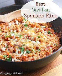 30 Minute, One Pan - Best Spanish Rice!