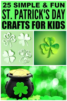 If you're looking for the perfect St. Patrick's Day crafts to keep your little ones busy when it's too cold to go outside, you've come to the right place. This collection of shamrock, leprechaun, and rainbow activities will not only keep your kids busy so you can catch your breath for 5 minutes, but it will also give you some great keepsakes for when you're old and gray! My daughter and I are especially excited to try # 12!