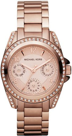 michae kors mini size blair multi function glitz watch - Google Search