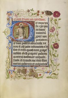 Initial D: The Man of Sorrows; Unknown; Brabant (possibly), Flanders, Belgium; after 1460; Tempera colors, gold leaf, and ink on parchment; Leaf: 17.1 x 12.2 cm (6 3/4 x 4 13/16 in.); Ms. Ludwig IX 9, fol. 194; J. Paul Getty Museum, Los Angeles, California