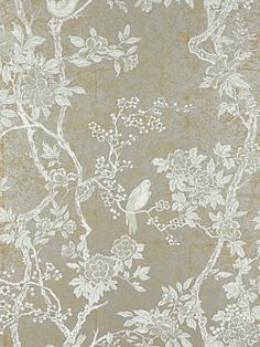 DecoratorsBest - Detail1 - LWP30571W - MARLOWE FLORAL - STERLING - Wallpaper - - DecoratorsBest