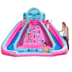 Walmart has the L.O.L. Surprise! Inflatable River Race Water Slide for only $349.54 after a price drop from $699. You save 50% off the retail price for this inflatable water slide. Plus, this item ships free and comes with a blower. Water Slide Bounce House, Inflatable Water Park, Kids Climbing, Climbing Wall, Bouncy House, Princess Toys, Little Tikes, Backyard For Kids, Lol Dolls