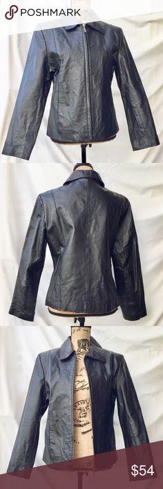 90's Vintage Adler Collection Black Leather Jacket Adler Collection brand • 90's Vintage Black Leather Jacket, Zip Up, Like New, Size Large Adler Jackets & Coats